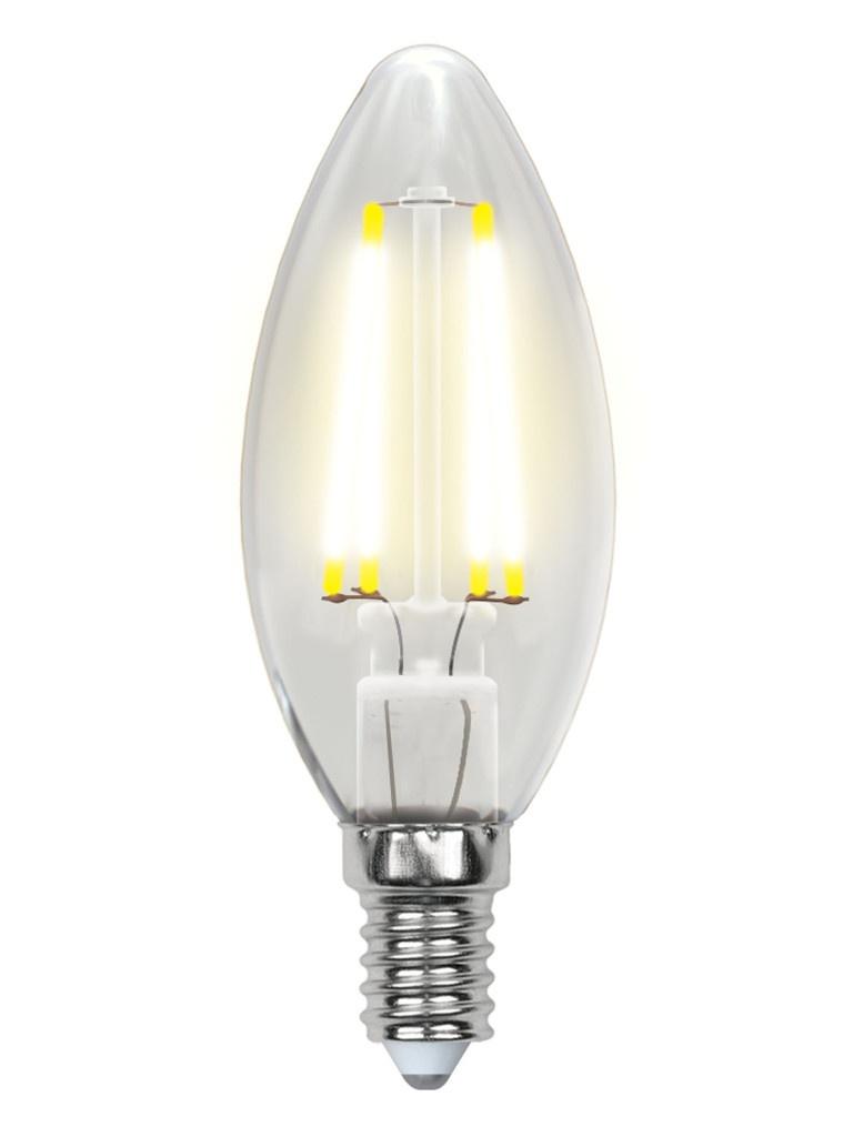Лампочка Uniel Air LED C35 E14 6W 200-250V 4000K 450Lm LED-C35-6W/NW/E14/CL GLA01TR