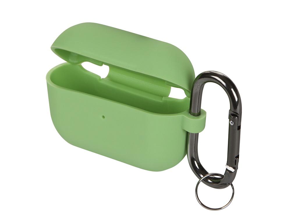 Чехол Innovation для AirPods Pro Silicone с карабином Green 16864 фото