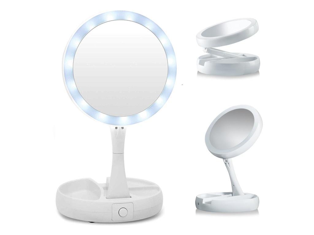 Зеркало косметическое Kromatech My Fold Jin JG-988 с подсветкой и 1 / 10-тикратным увеличением 63149b005