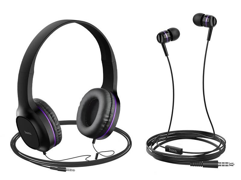 Наушники Hoco W24 Enlighten Set Purple
