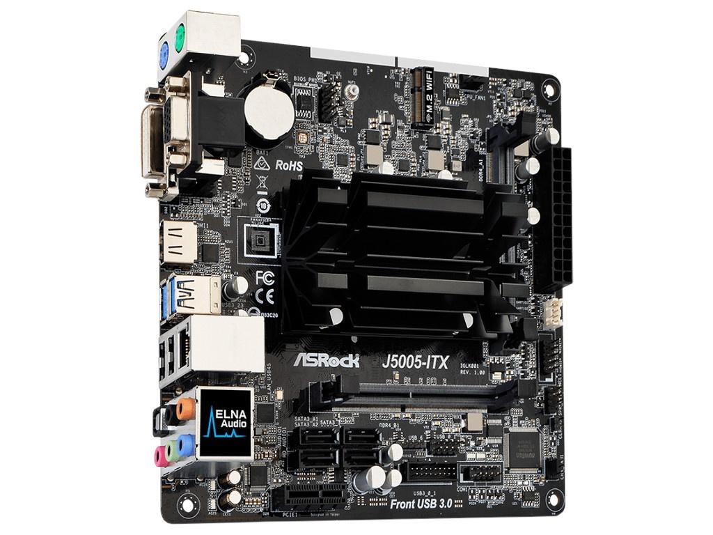 Материнская плата ASRock J5005-ITX itx m56