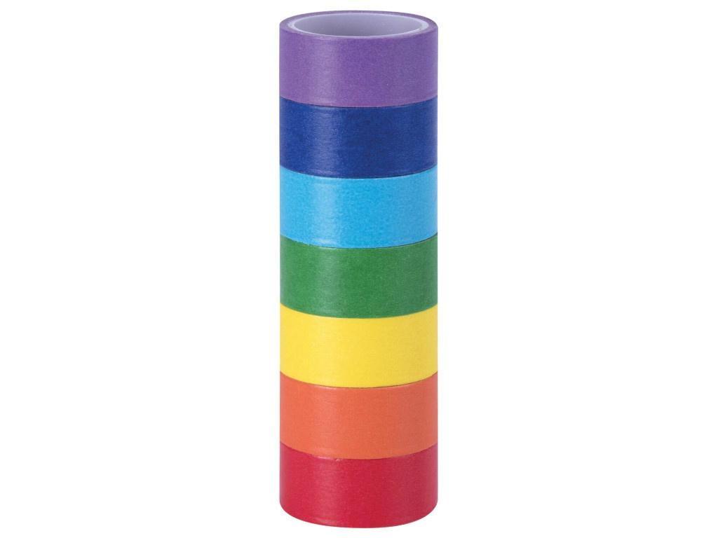 Клейкие Washi-ленты Остров Сокровищ Радужные 15mm x 3m 7 цветов 661702
