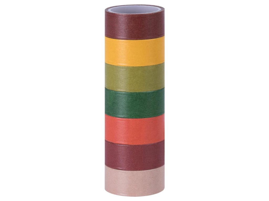 Клейкие Washi-ленты Остров Сокровищ Интенсив 15mm x 3m 7 цветов 661698