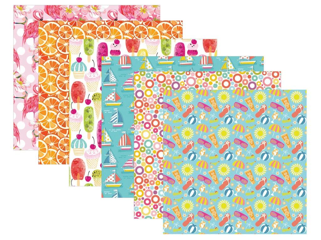 Цветная Washi-бумага Остров Сокровищ Лето самоклеящаяся 12 листов 6 дизайнов 661720
