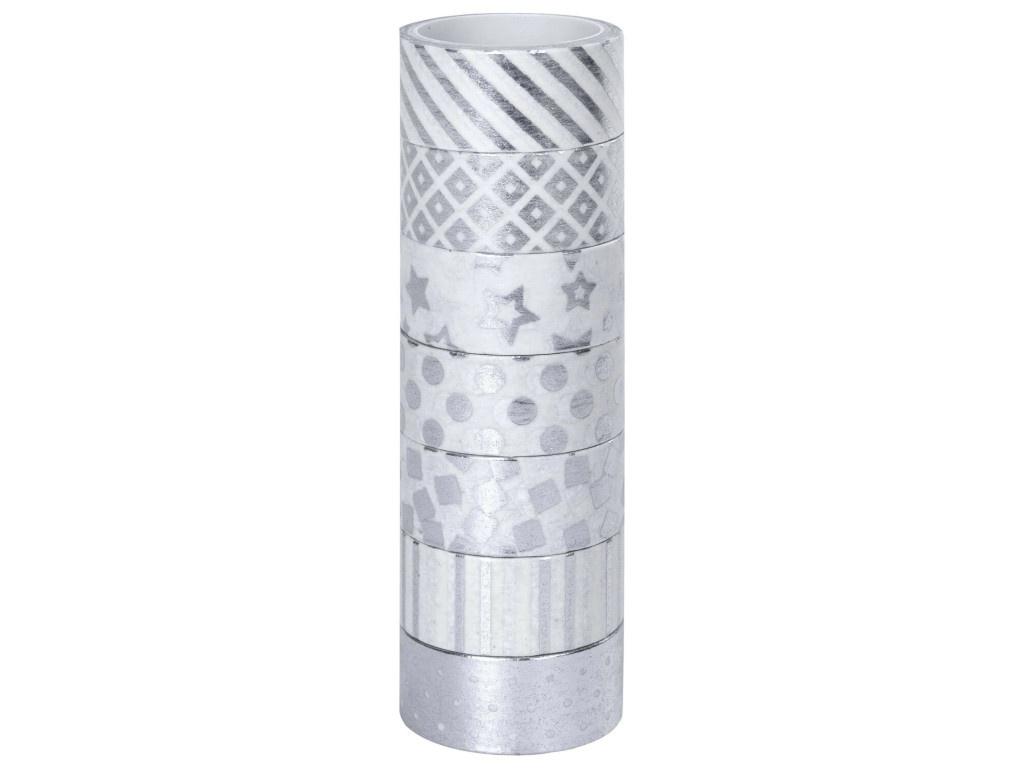 Клейкие Washi-ленты Остров Сокровищ 15mm x 3m 7шт Silver 661713