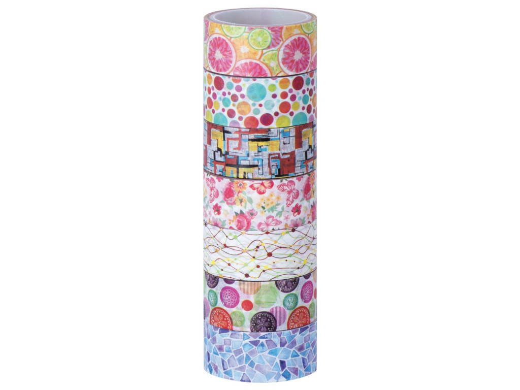 Клейкие Washi-ленты Остров Сокровищ Микс №2 15mm x 3m 7 цветов 661710