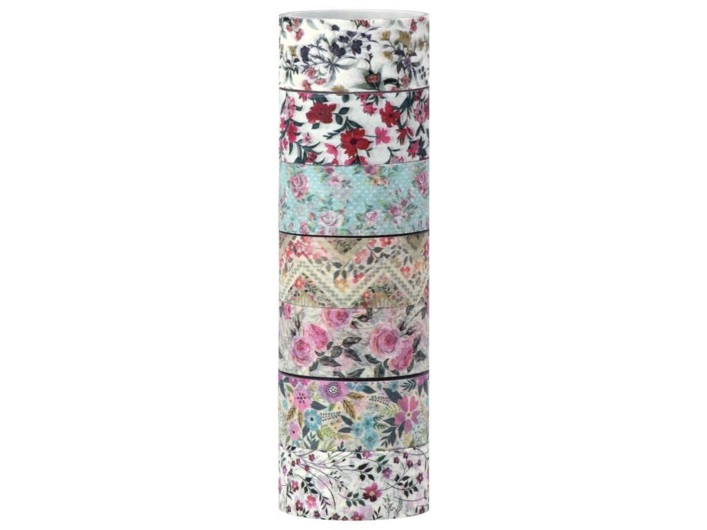 Клейкие Washi-ленты Остров Сокровищ Цветочный микс 15mm x 3m 7 цветов 661707