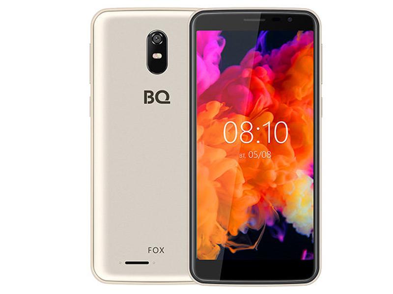 Сотовый телефон BQ 5004G Fox Gold сотовый телефон bq bq 6010g practic gold