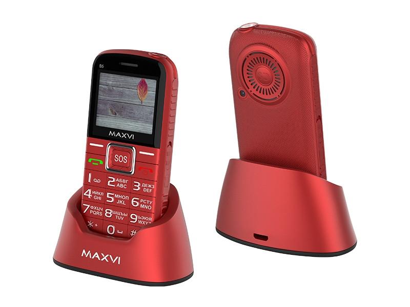 Сотовый телефон Maxvi B5 Red сотовый телефон maxvi b1 red