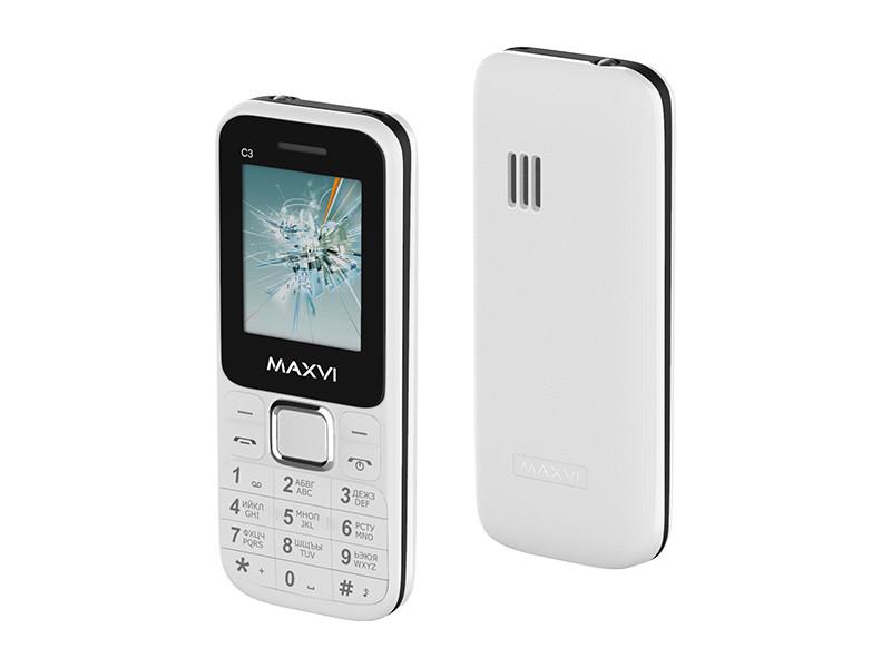 Сотовый телефон Maxvi C3 White сотовый телефон maxvi c17 white red