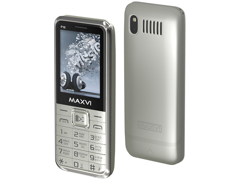 Zakazat.ru: Сотовый телефон Maxvi P16 Silver