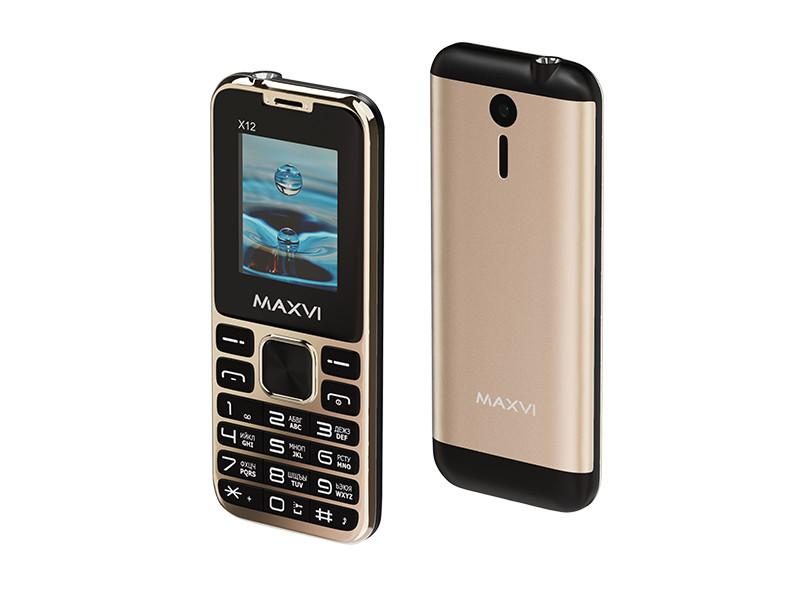 Сотовый телефон Maxvi X12 Metallic Gold
