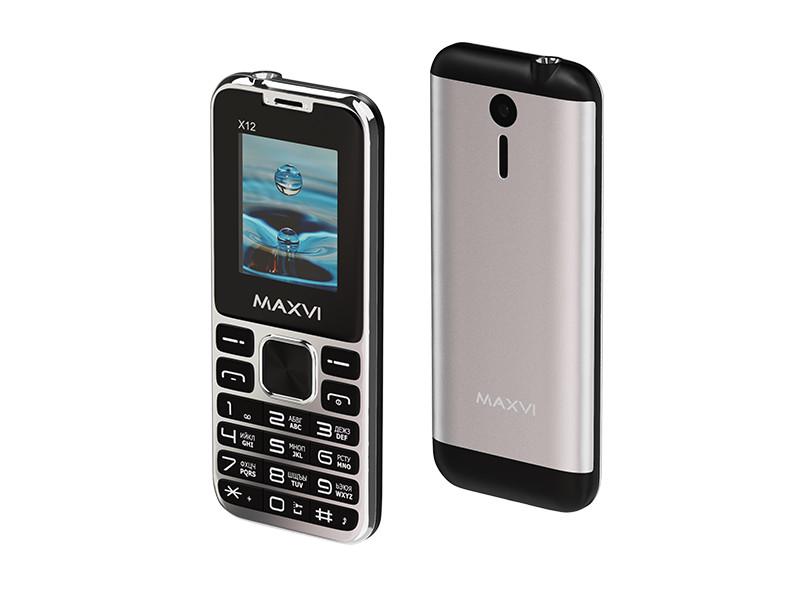 Сотовый телефон Maxvi X12 Metallic Silver