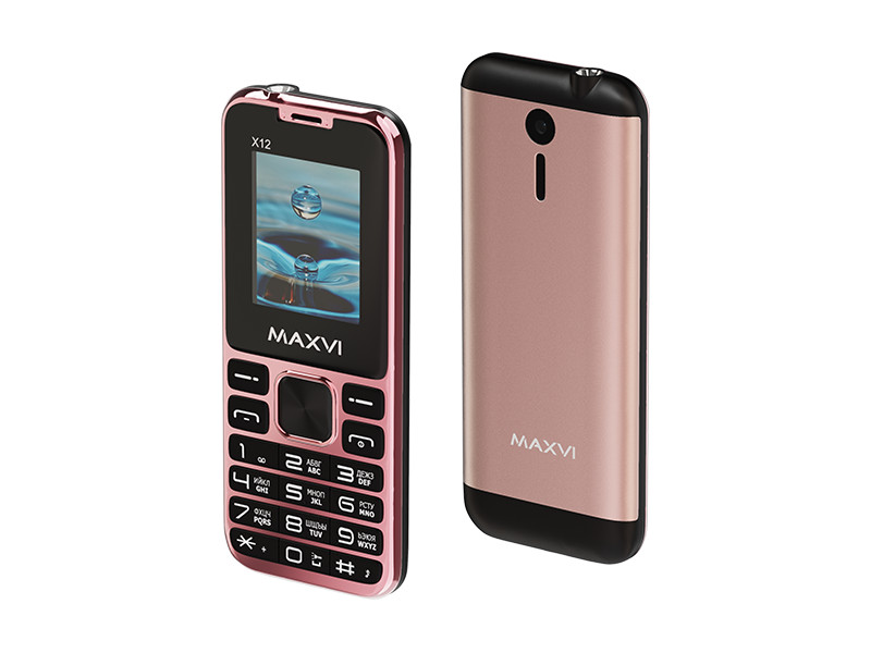 Сотовый телефон Maxvi X12 Rose Gold