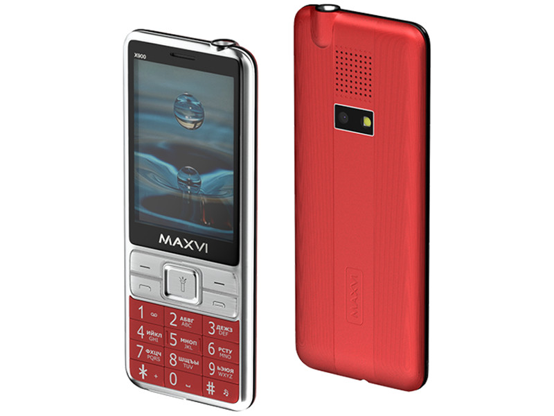 Фото - Сотовый телефон MAXVI X900 Red сотовый телефон maxvi b5 grey