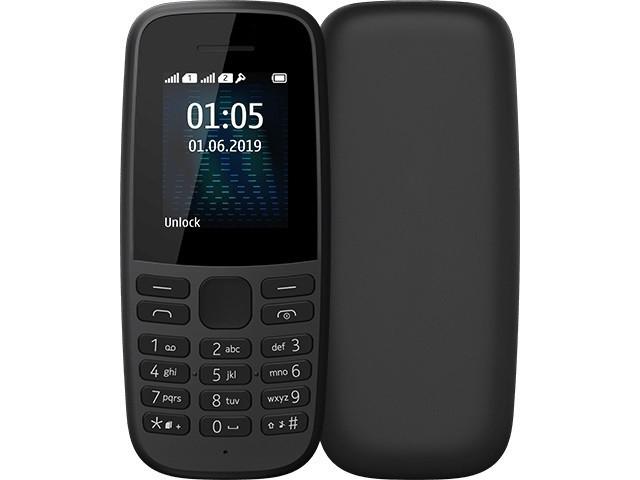Сотовый телефон Nokia 105 (TA-1203) w/o charger Black 16KIGB01A19 сотовый телефон nokia 105 blue