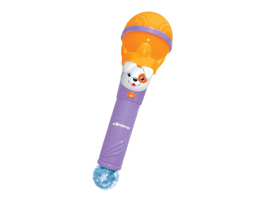 Детский музыкальный инструмент Азбукварик Микрофон Суперхит Веселись с друзьями Orange 4680019284552