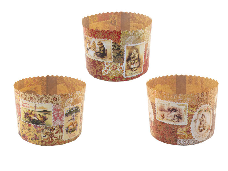 Форма для выпечки Paterra Ретро 134x100mm 3шт 402-807