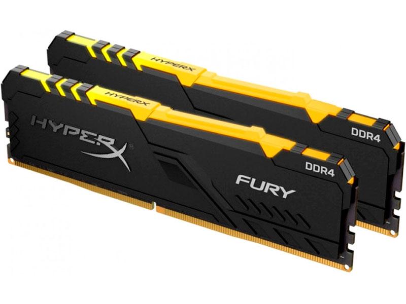 Модуль памяти HyperX Fury RGB DDR4 DIMM 3600Mhz PC-28800 CL17 - 16Gb KIT (2x8Gb) HX436C17FB3AK2/16