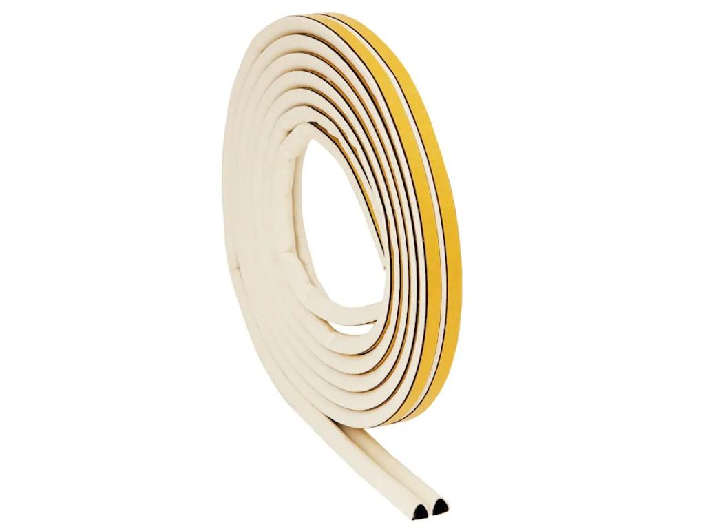 Резиновый уплотнитель Aviora D-профиль 6m White 302-080