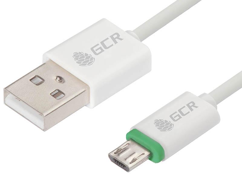 Аксессуар Greenconnect USB 2.0 AM - microB 5pin 1m White-Green GCR-51777 аксессуар greenconnect кабель usb 2 0 lightning 8pin 1m для iphone 5 6 7 8 x yelow black gcr 51033