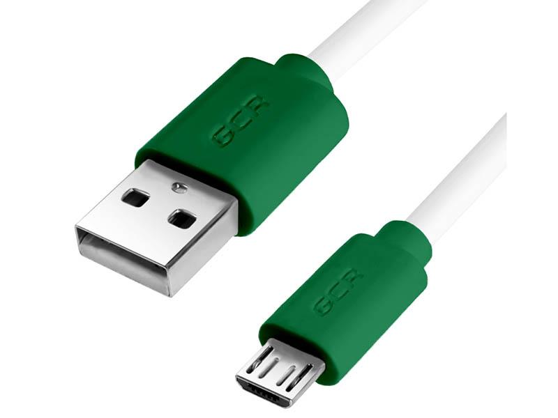 Аксессуар Greenconnect USB 2.0 AM - microB 5pin 1m White-Green GCR-51505 аксессуар greenconnect кабель usb 2 0 lightning 8pin 1m для iphone 5 6 7 8 x yelow black gcr 51033