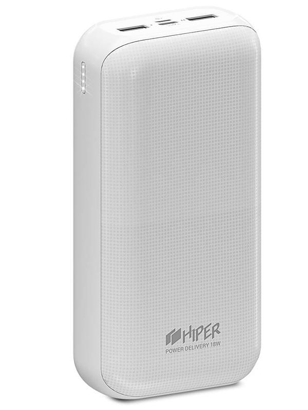 Внешний аккумулятор HIPER RPX30000 White аккумулятор hiper внешний аккумулятор hiper mirror 4000 red