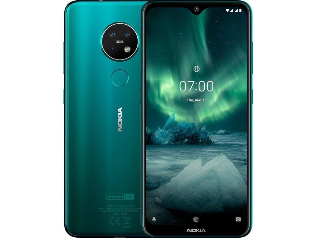 Сотовый телефон Nokia 7.2 (TA-1196) 6/128Gb Cyan Green