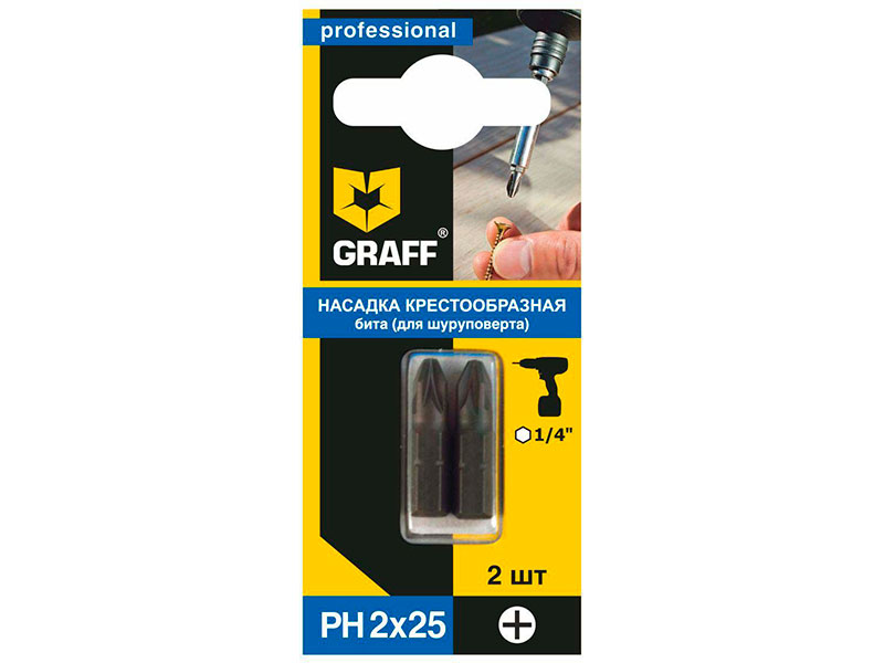 Бита Graff PH 2x25mm GBPH0225