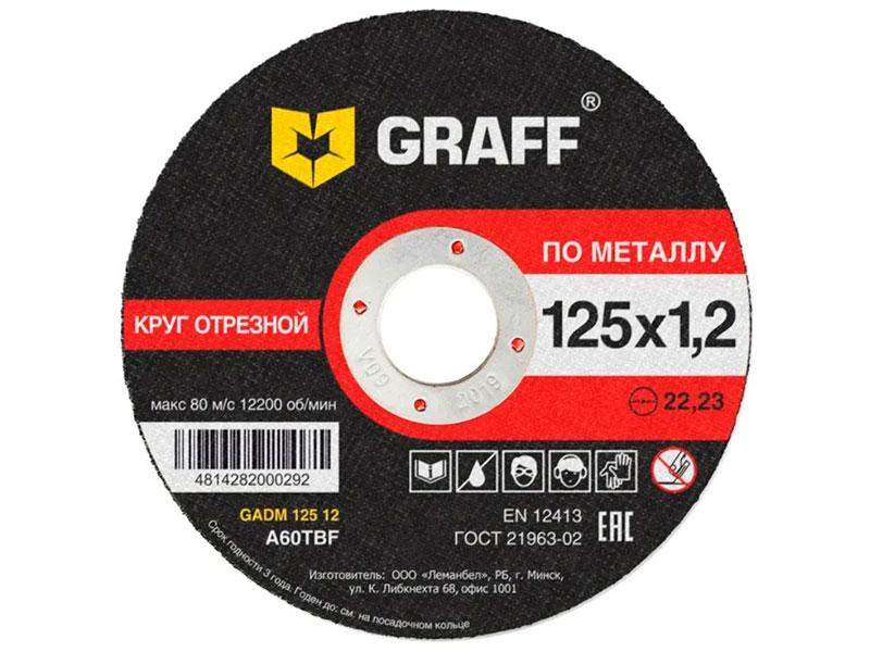 Фото - Диск Graff GADM 125.1.2.10 набор 10шт 125x1,2mm диск отрезной 125x1 6x22 23 graff gadm 125 16 1 шт