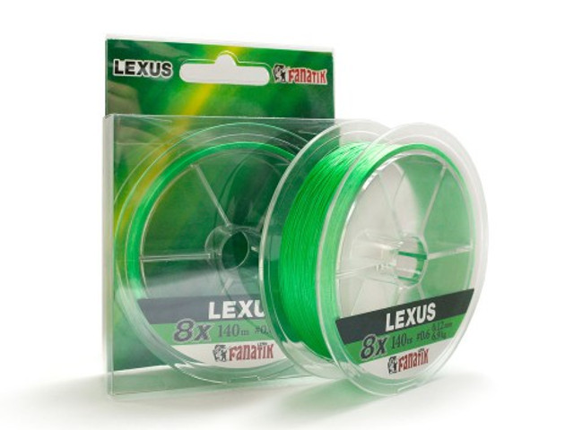 Леска Fanatik Lexus PE X8 (#0,8) 0.14mm 140m Light Green LXPEX814008