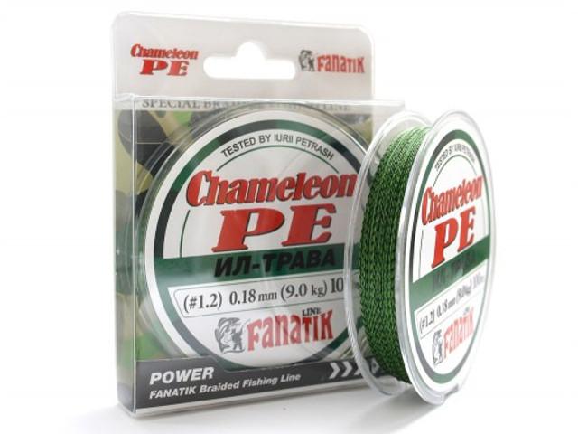 Леска Fanatik Chameleon PE X4 (#1,2) 0.18mm 100m Grass CHGBPEX410012