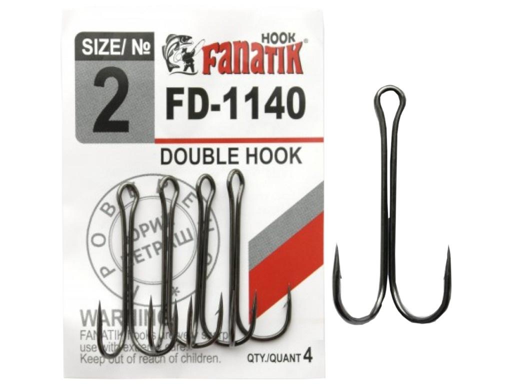 Крючки Fanatik Двойник №2 4шт FD-1140-2