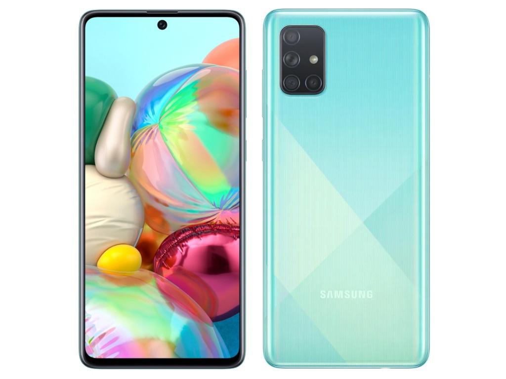 Сотовый телефон Samsung SM-A715F Galaxy A71 6Gb/128Gb Light Blue Выгодный набор + серт. 200Р!!! сотовый
