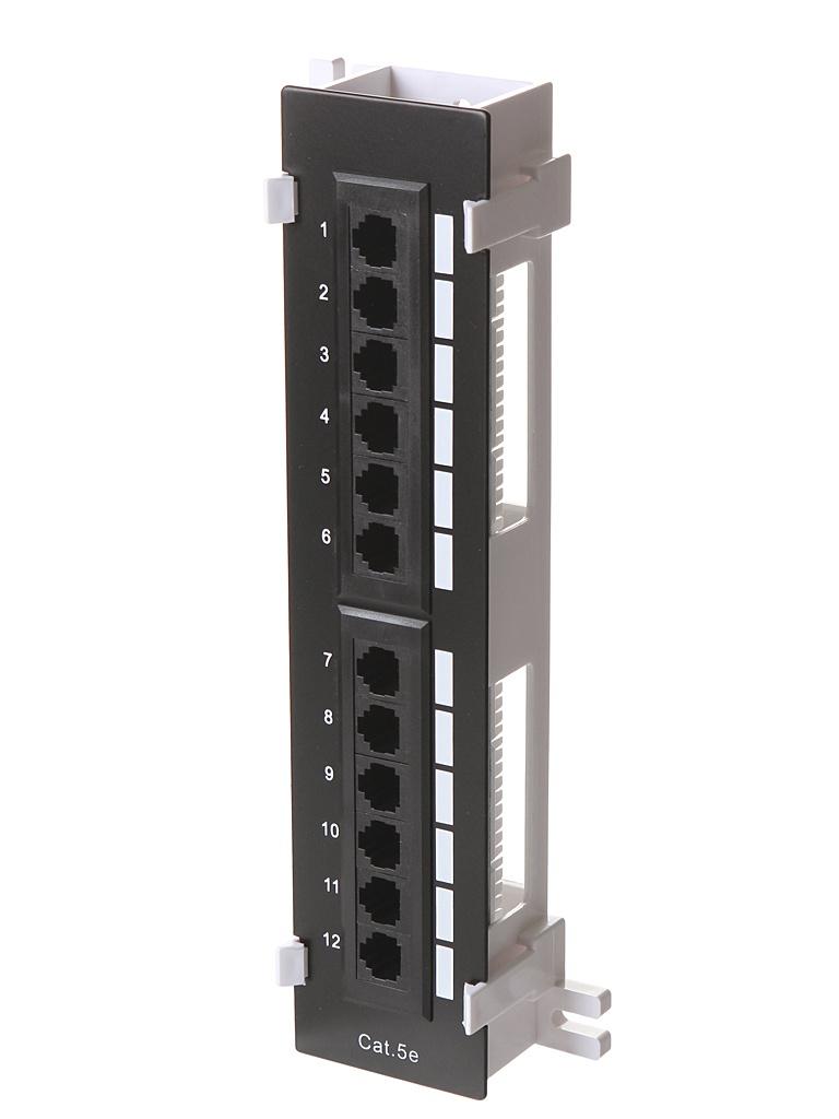 Коммутационная панель Патч-панель Ripo Cat.5e 12 ports Black 003-100035