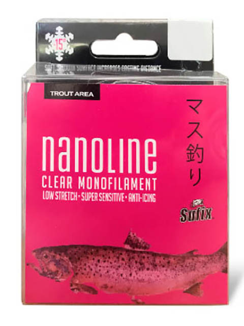 Леска Sufix Nanoline Trout 0.14mm 150m 1.8kg Transparent SNL14C150