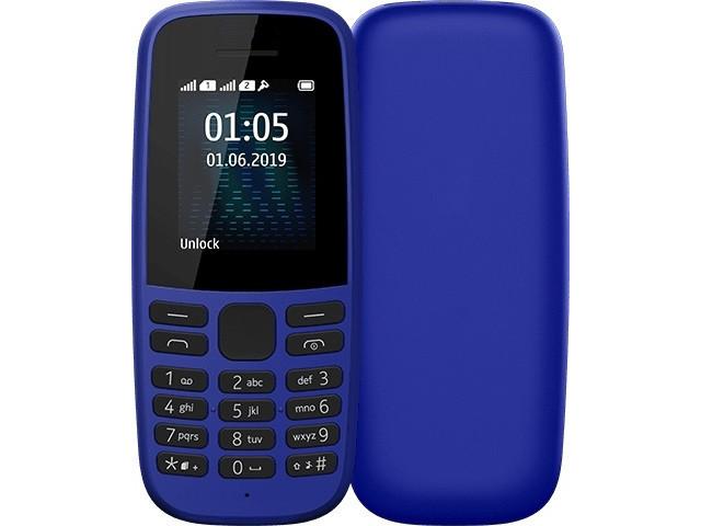 Сотовый телефон Nokia 105 (TA-1203) w/o charger Blue 16KIGL01A19