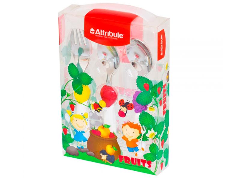 Набор детских столовых приборов Attribute Fruits ACF303-1