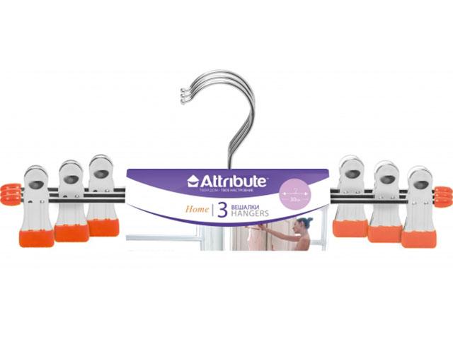 Вешалка Набор вешалок для брюк Attribute Neo AHS063 3шт Orange