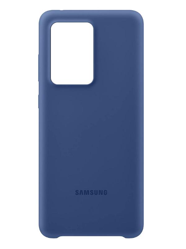 Чехол для Samsung G988 Galaxy S20 Ultra Silicone Cover Dark Blue EF-PG988TNEGRU чехол крышка samsung clear cover ef qg960ttegru для samsung galaxy s9 прозрачный