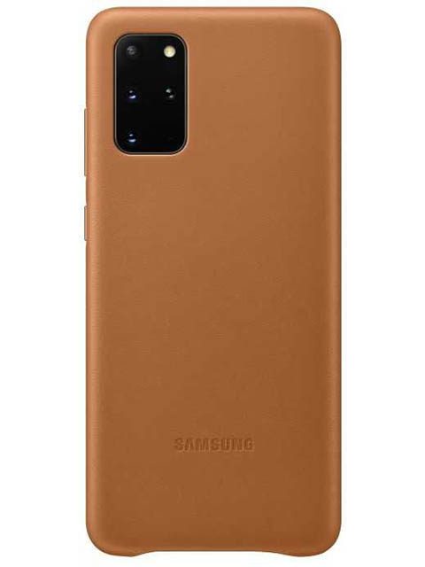 Чехол для Samsung G985 Galaxy S20 Plus Leather Cover Brown EF-VG985LAEGRU чехол для сотового телефона samsung galaxy note 8 clear cover violet ef qn950cvegru