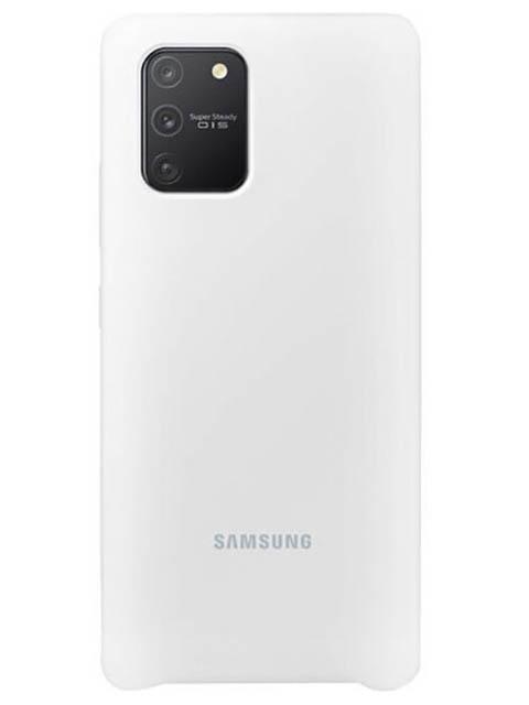 Чехол для Samsung G770 Galaxy S10 Lite Silicone Cover White EF-PG770TWEGRU чехол для сотового телефона samsung galaxy note 8 clear cover violet ef qn950cvegru