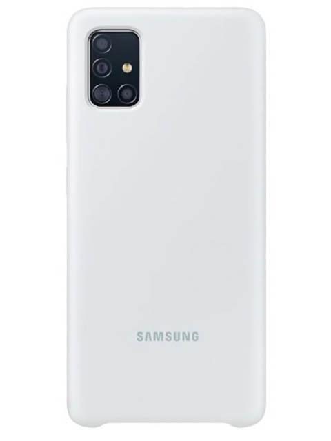 Чехол для Samsung A515 Galaxy A51 Silicone Cover White EF-PA515TWEGRU