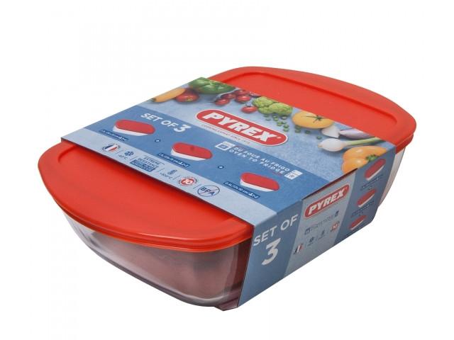 Набор контейнеров Pyrex Color 3шт 913S044/7045