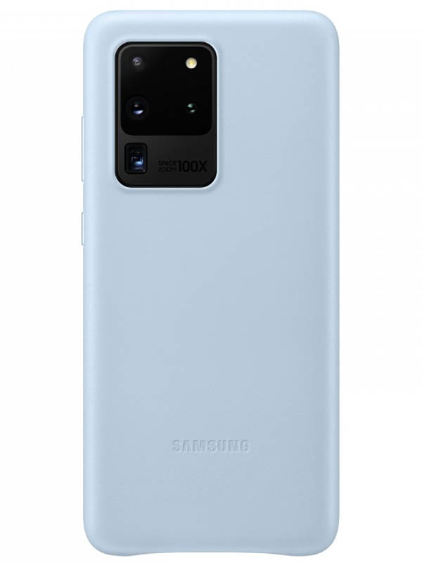 Чехол для Samsung Galaxy S20 Ultra Leather Cover Light-Blue EF-VG988LLEGRU