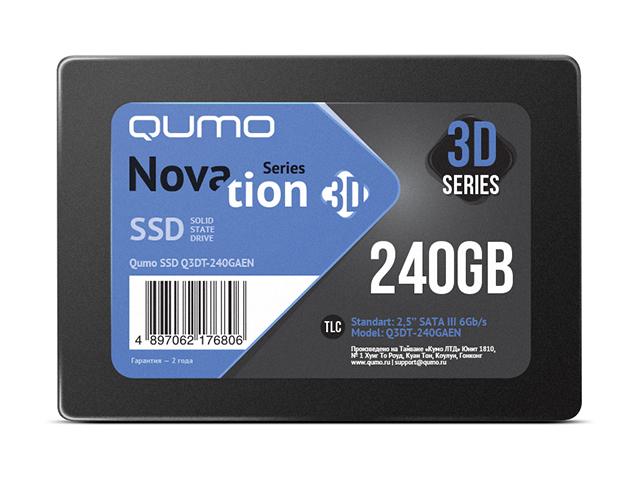 Жесткий диск Qumo Novation TLC 3D SSD 240Gb Q3DT-240GAEN фото