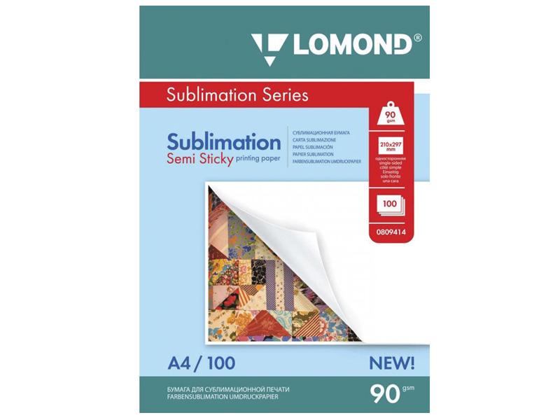 Фотобумага Lomond A4 90g/m2 Матовая липкая сублимационная 100 листов Lom_IJ_0809414