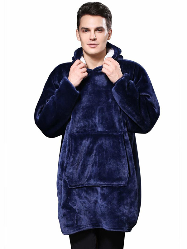 Плед с капюшоном Veila Huggle Ultra Plush Blanket Hoodie 3560 Blue