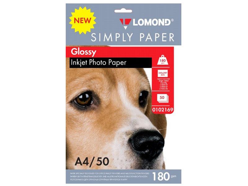 Фотобумага Lomond Simply Papers A4 180g/m2 Глянцевая 50 листов Lom_IJ_0102169