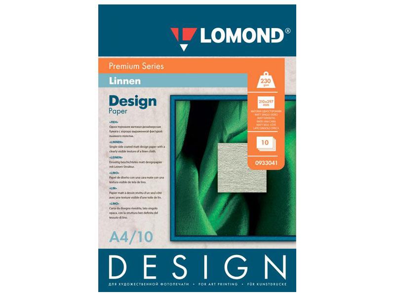 Фотобумага Lomond Design Premium A4 230g/m2 Матовая Лен 10 листов Lom_IJ_0933041
